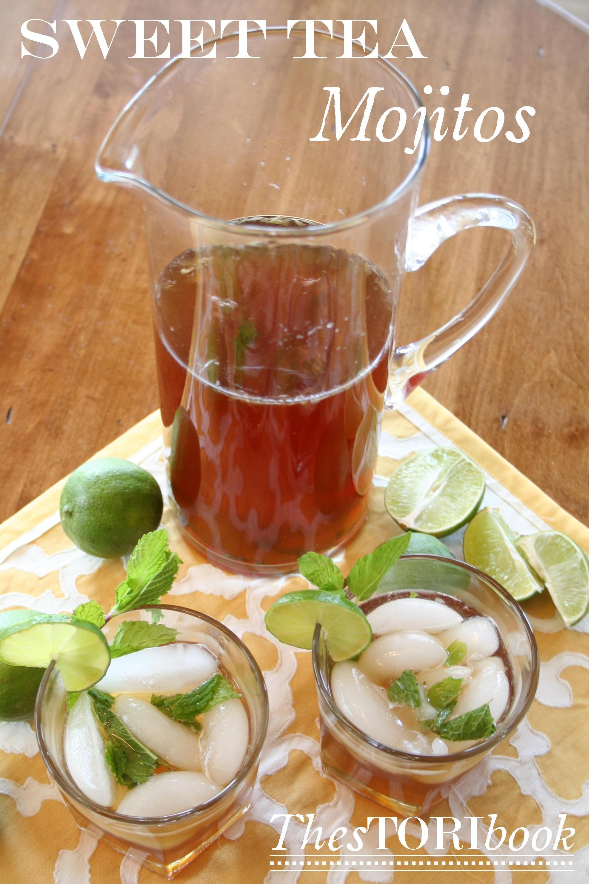 A delicious sweet tea mojito recipe.